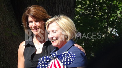 Hillary Clinton And Cheri Bustos At Quad City Federation Of Labor's Salute To Labor Chicken Fry At Illiniwek Park