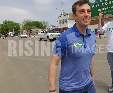 Dan Feehan At Syttende Mai Parade In Hanska, MN