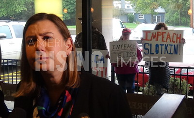 Elissa Slotkin Attends Constituent Coffee Event In Lansing, MI