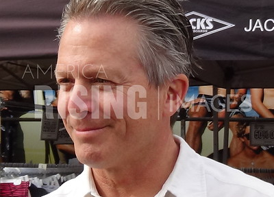 Hans Kierstead At Tuesdays Without Dana Protest In Huntington Beach, CA