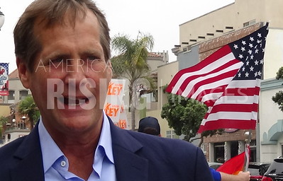 Harley Rouda At Tuesday Without Dana Protest In Huntington Beach, CA