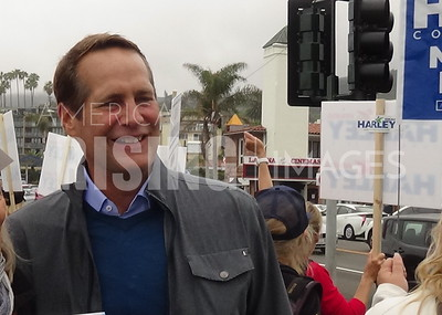 Harley Rouda At Rally And Canvass In Laguna Beach, CA