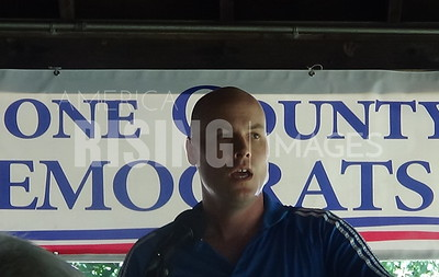 JD Scholten at Boone County IA Dems Picnic in Boone, IA