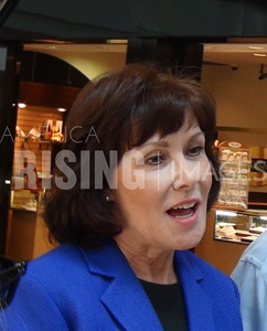 Jacky Rosen At Early Voting Station With Harry Reid At Galleria Mall In Henderson, NV