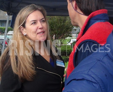 Jennifer Wexton At Farmers Market In Great Falls, VA