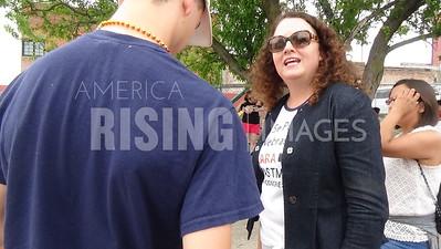 Kara Eastman At Family Separation Rally In Omaha, NE