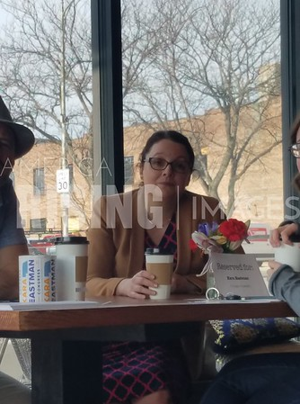 Kara Eastman At Political Pop-Up In Omaha, NE