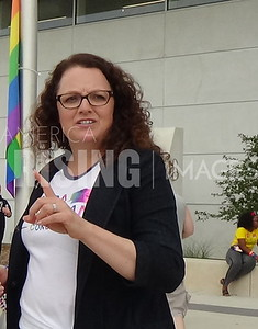 Kara Eastman At Pride Festival In Omaha, NE