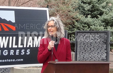 Kathleen Williams Announcement 2020 in Billings, MT