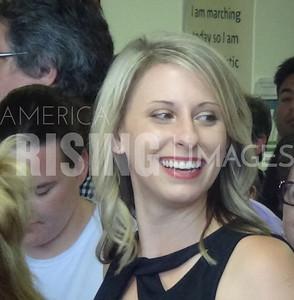 Katie Hill At Voter Registration Day Event In Santa Clarita, CA