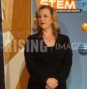 Kendra Horn at STEM Expo in Oklahoma City, OK