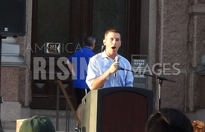 Mike Siegel at Lights for Liberty Protest in Austin, TX