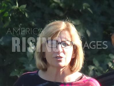 Rita Hart attends house party in West Burlington, IA