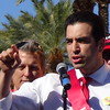 Ruben Kihuen At Trump Protest With Culinary Union 226 At Trump International Hotel In Las Vegas, NV