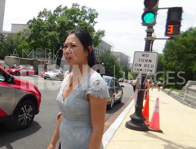 Stephanie Murphy on Capitol Hill Sidewalk in Washington, DC