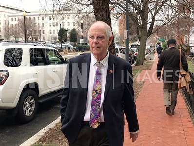 Tom O'Hallerin on Sidewalk in DC