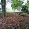 Halfway through the upper retaining wall