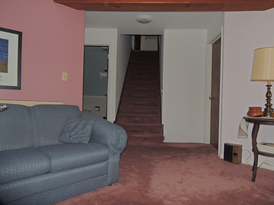 From family room, stairway leading up.