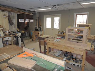 Workshop under garage.