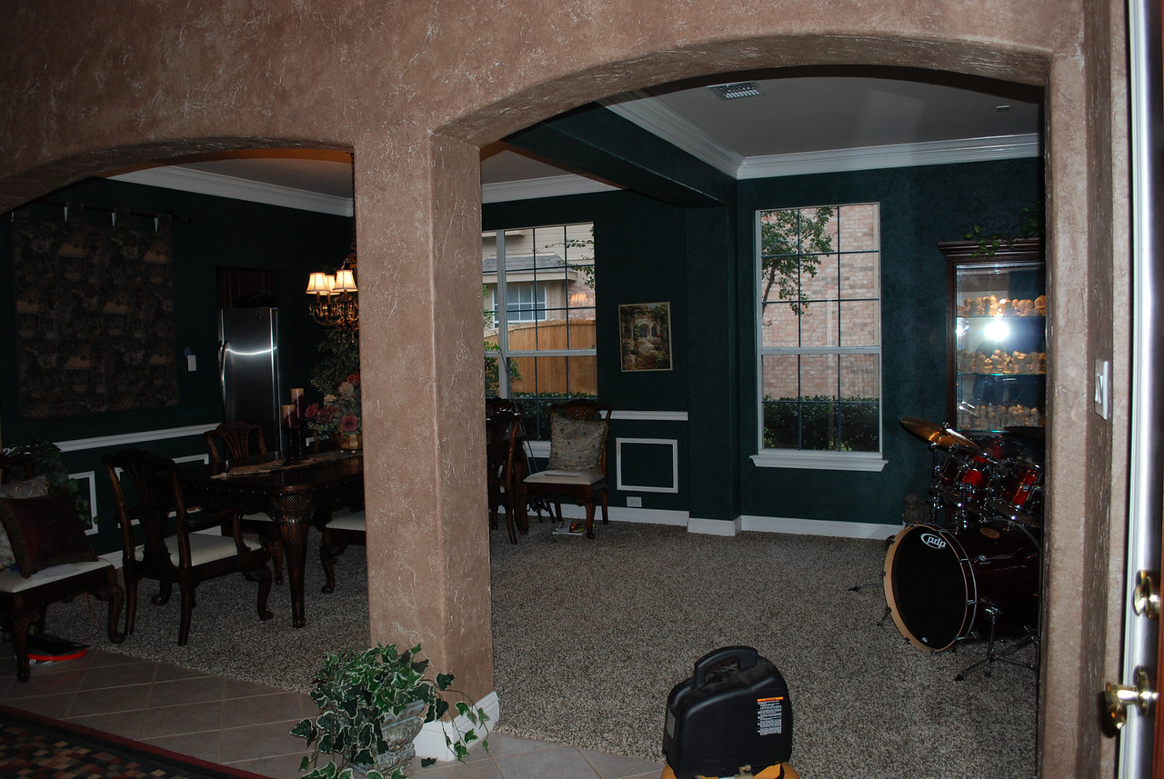 The original formal dining and formal living areas.