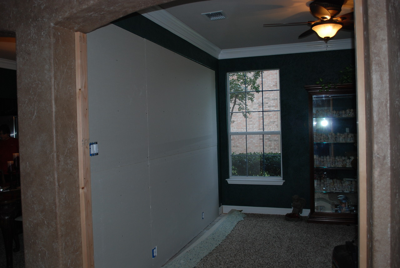 Dry wall goes up.
