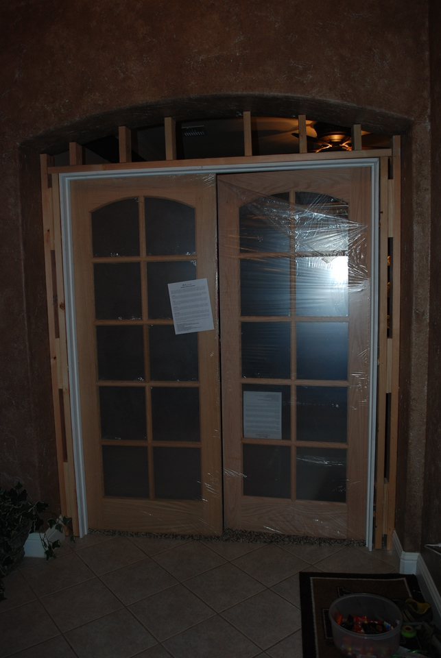 Adding the French Doors.