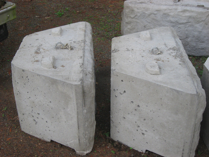 Close up of base blocks.