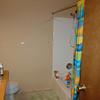 Boy's bathroom, before painting walls