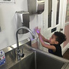 House of Hope families participate in frequent hand-washing during the pandemic.