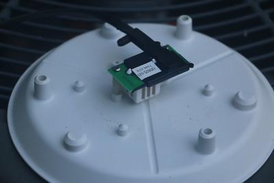 Installed temperature humidity sensor