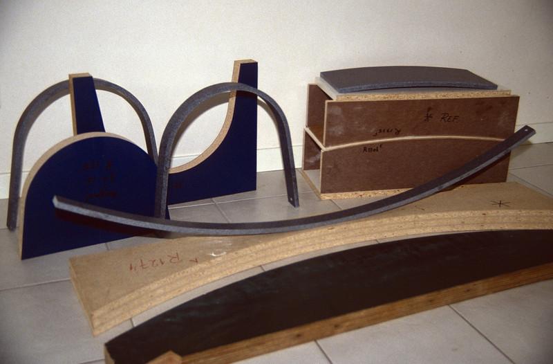 form moulds  CORIAN (kitchenbuilding 1994)