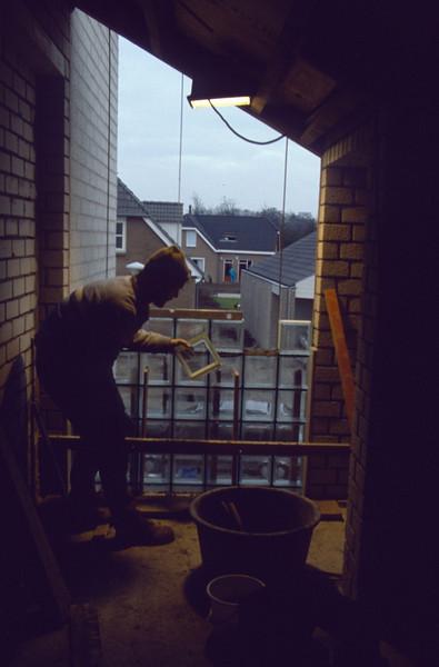 laying bricks of glass (homebuilding 1990 - 1991)