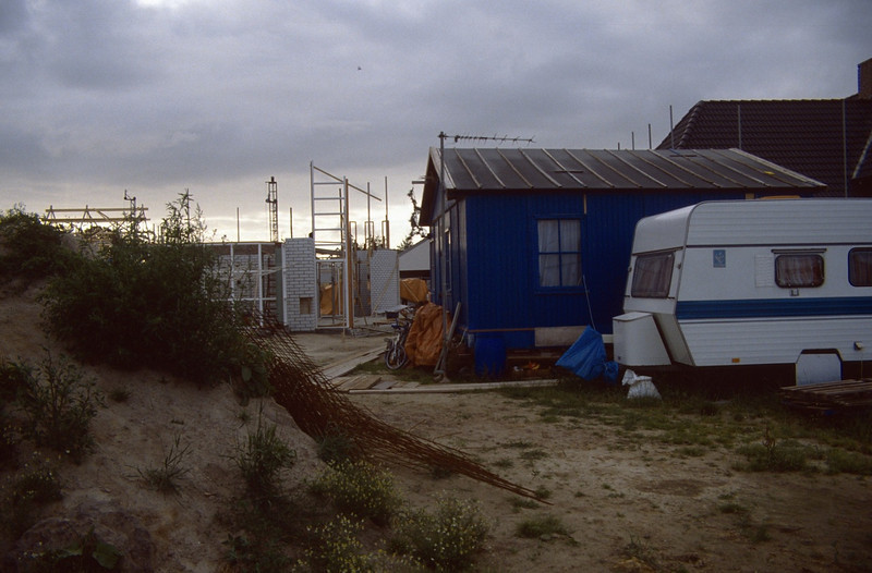 temporary camp near the constructionground (building my house)
