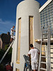 painting the stair tower