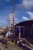 to mount the collumns (July 1989, building my house)