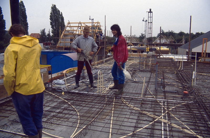 waiting for casting concrete for the first floor (building my house)