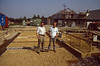 Henk &  Marijn, ready for casting the concrete (building my house)