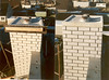 chimney with a concrete waste outlet (Nov. 1989, building my house)
