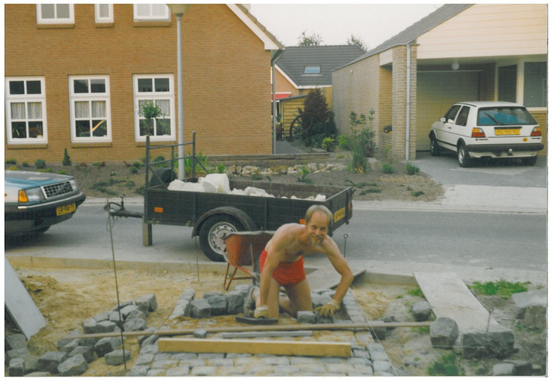 laying the pavement (Sept.1991, building my house)