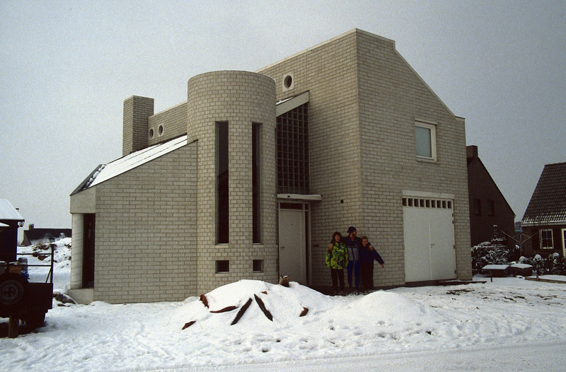 winter 1989 - 1990 (building my house)