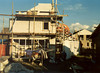 Westside of the house (Oct.1989, building my house)