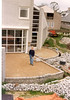 Terrace of Portuguese granite (Mar.2002, building my house)