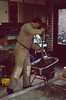 making prefab concrete buildingparts at Henk's home (during the wintertime 1989)