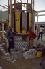 round brick layering with the bricklayer Bert van Hout (building my house)