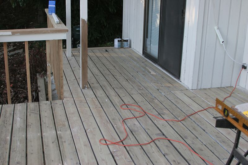 This is the deck surface after being hand scraped for days, and then sanded with a deck sander.