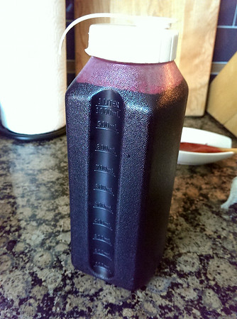 1L of juice made from Roger's Red grapes!