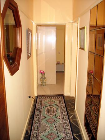 Hallway before renovation.
