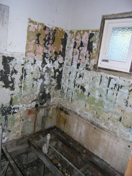 Bathroom gutted