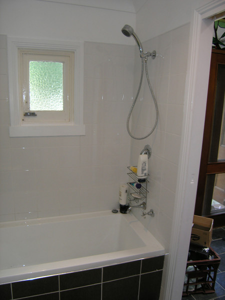 Our shiny new bathroom