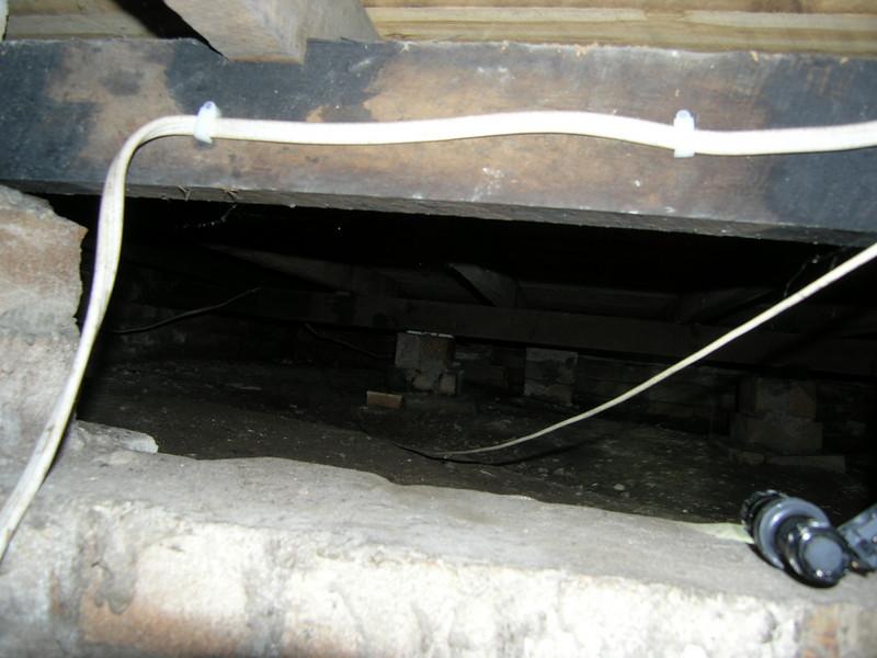 Under floor: looking from hallway into front room